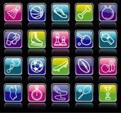 buttons sportar royaltyfri illustrationer