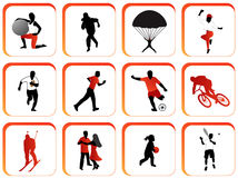 buttons sporten Royaltyfri Bild