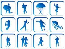 buttons sporten Fotografering för Bildbyråer