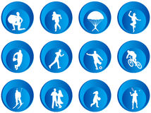 buttons sporten Arkivfoto