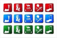 buttons sporten Arkivfoton