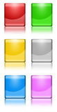 Buttons Square. Colorful square buttons on white background Stock Images