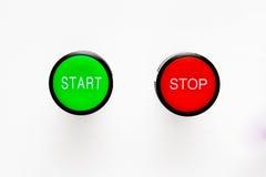 buttons startstoppet Royaltyfri Foto