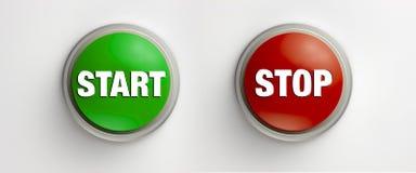 buttons startstoppet arkivbild