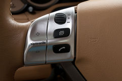 Buttons on steering wheel. Stock Image
