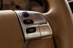Buttons on steering wheel. Royalty Free Stock Image