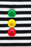 Buttons On Striped Vest Royalty Free Stock Photo