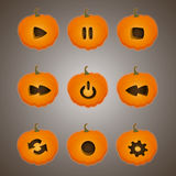 Buttons in the style of a pumpkin. Royalty Free Stock Image
