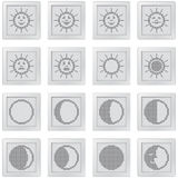 Buttons set with pixel drawing symbols Royalty Free Stock Photo