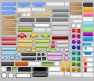 Buttons super set vector illustration