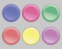 buttons symboler vektor illustrationer