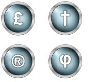 Buttons and symbols Royalty Free Stock Photos