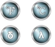 Buttons and symbols Stock Photography