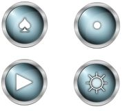 Buttons and symbols Stock Images