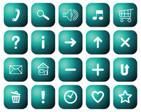 Buttons with symbols for websites. Stock Image