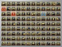 buttons symbolsrengöringsduk Royaltyfria Bilder