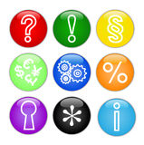 buttons symbolsvektorrengöringsduk Royaltyfri Fotografi
