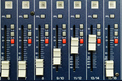 Buttons and tabs in the audio controller Royalty Free Stock Image