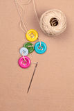 Buttons thread Royalty Free Stock Image