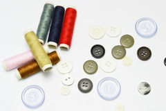 Buttons and thread Royalty Free Stock Photos