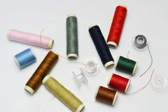 Buttons and thread Stock Photography