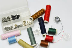 Buttons and thread Royalty Free Stock Images