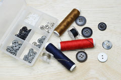 Buttons and thread Royalty Free Stock Photo
