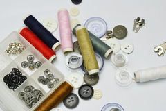 Buttons and thread Royalty Free Stock Photography