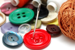 Buttons and threads Stock Images