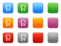 Buttons with tooth icon Royalty Free Stock Image