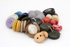 buttons torkdukestapeln Arkivbild