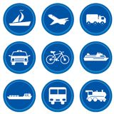Buttons. Transport concept Stock Images