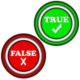 Buttons true and false Royalty Free Stock Photography