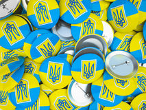 Buttons with Ukraine flag Royalty Free Stock Image