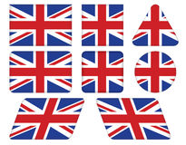 Buttons with Union Jack flag Royalty Free Stock Images