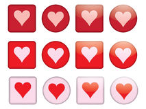 Buttons with valentine Stock Images