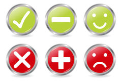Buttons Of Validation Icons royalty free illustration