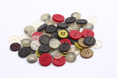 Buttons of various colors. Stock Photo