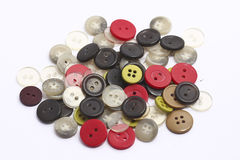 Buttons of various colors. Stock Photos