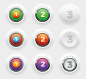 Buttons Stock Photo