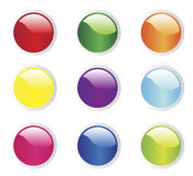 Buttons. Vector illustration of buttons with different color Royalty Free Stock Image