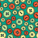Buttons.Vector seamless pattern. Stock Image