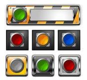 buttons vektorn Arkivbild
