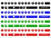 buttons vektorrengöringsduk Arkivbilder