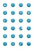 buttons vektorwebsite Arkivbilder