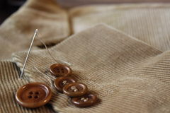 Buttons on the velvet jacket Royalty Free Stock Photography