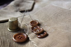 Buttons on the velvet jacket Royalty Free Stock Photos