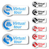 Buttons for virtual tour Royalty Free Stock Photos