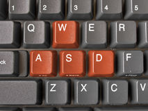 Buttons WASD. Red Buttons WASD on keyboard Stock Images