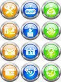 Buttons for web. Collection of color beautiful buttons for web sites Royalty Free Stock Image
